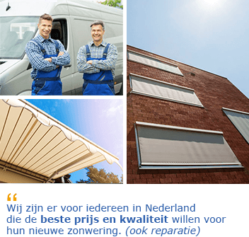 Zonwering specialist Tilburg reparatie