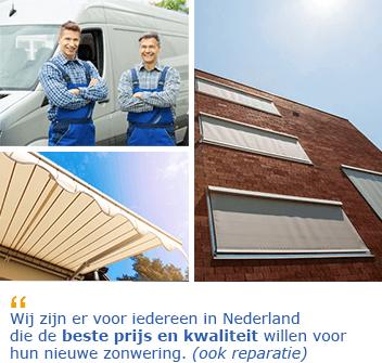 Zonwering specialist Middelburg reparatie